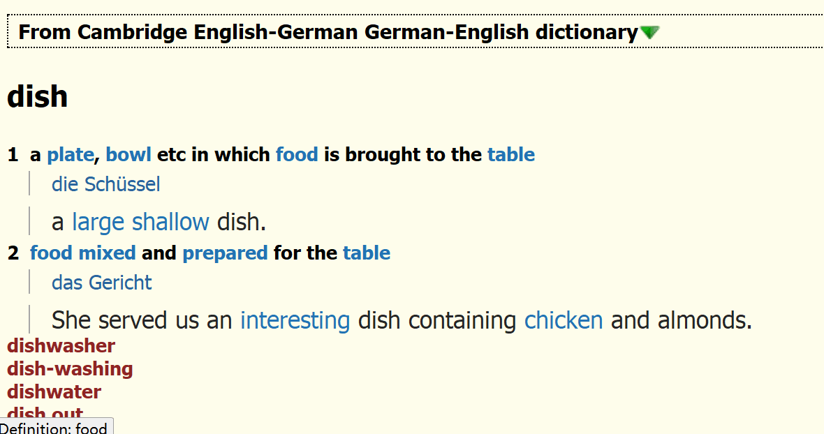Cambridge English-German German-English dictionary