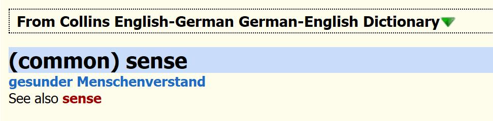 Collins English-German German-English Dictionary