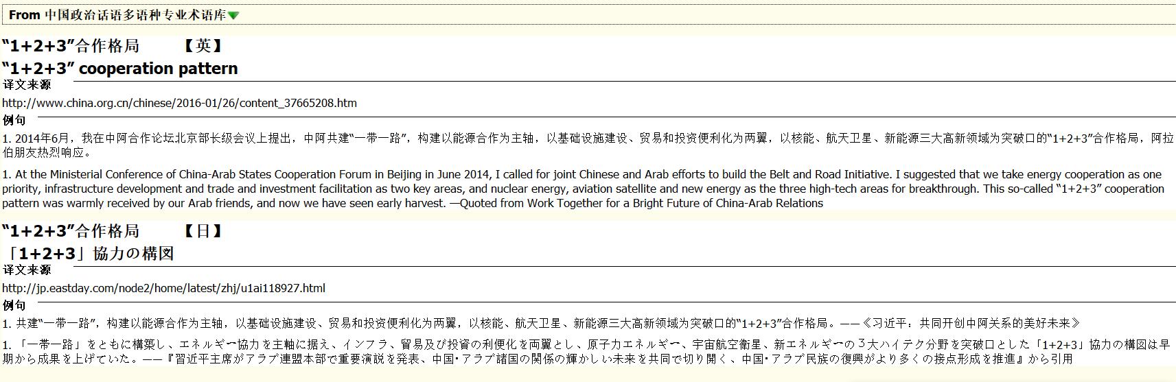 中国政治话语多语种专业术语库