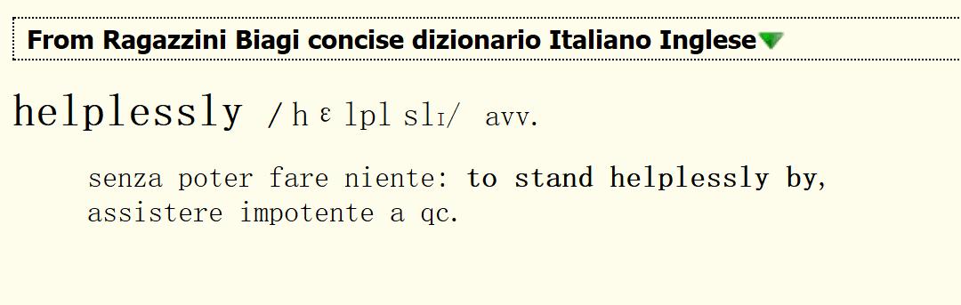 il Ragazzini/Biagi concise Dizionario Inglese-Italiano
